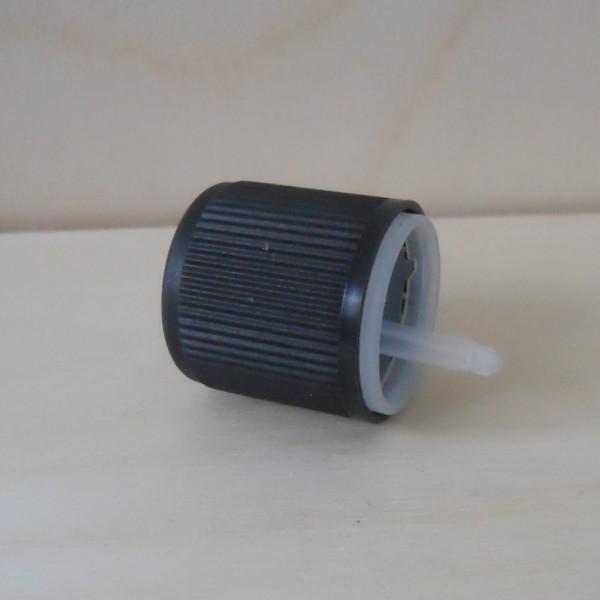 Verschluss GL18 schwarz mit Tropfer und KISI