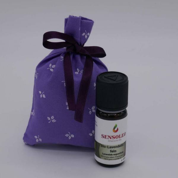 Lavendel-Duftsackerl inkl. 100% naturreines Bio Lavendelöl 10ml